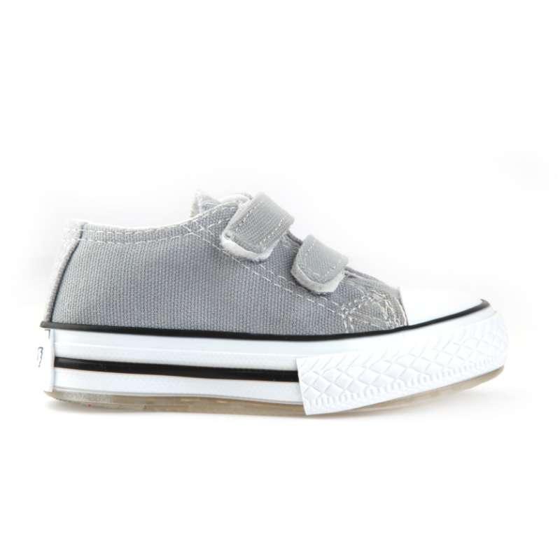 Gri Işıklı Keten Ayakkabı