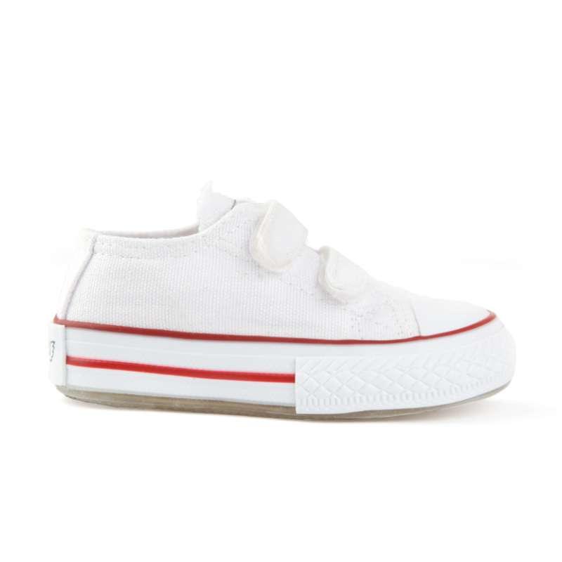 Beyaz Işıklı Keten Ayakkabı