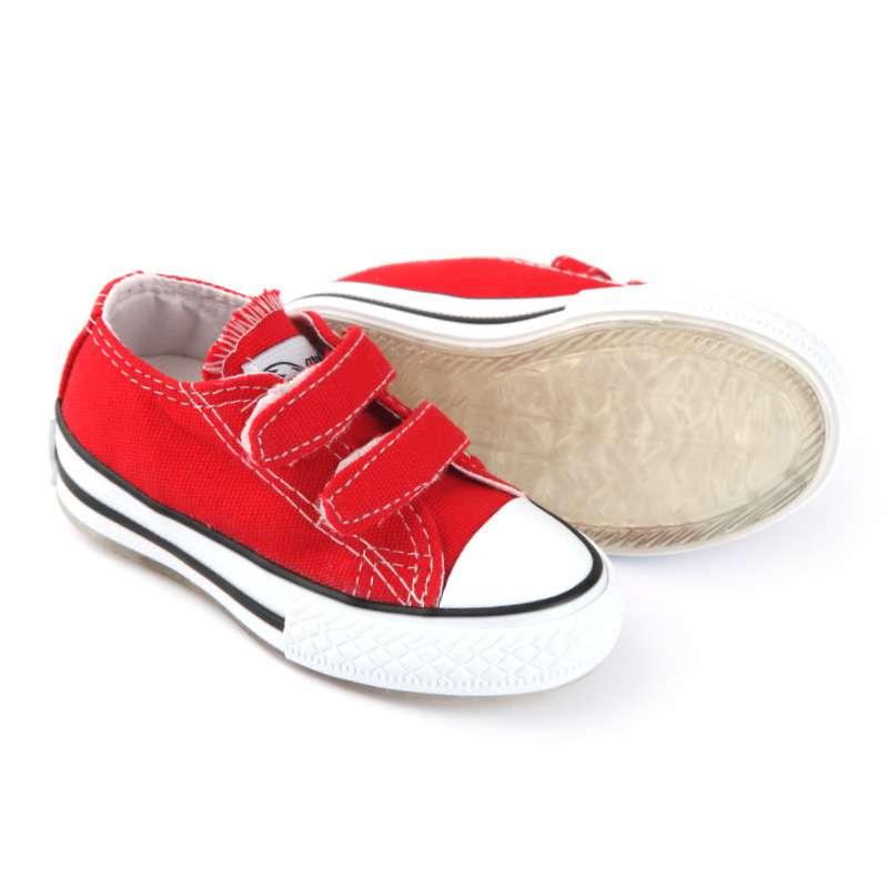 Kırmızı Işıklı Keten Ayakkabı