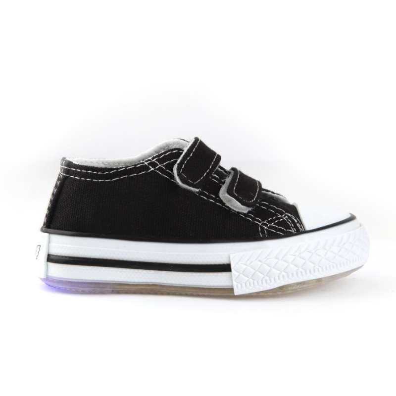 Sıyah Işıklı Keten Ayakkabı