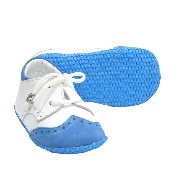 NANO PATİK Beyaz Süet Mavi